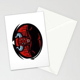 Red devil illustration Stationery Cards