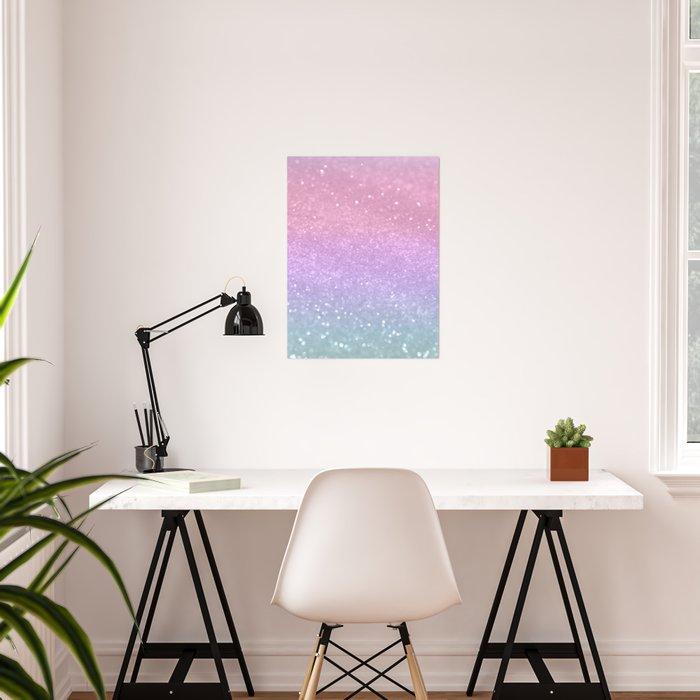 Unicorn Princess Glitter #1 #pastel #decor #art #society6 Poster