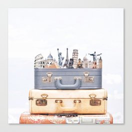 Travel Luggage Canvas Print