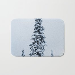 First Snow Fog Bath Mat