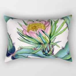 Blooming cactus Rectangular Pillow