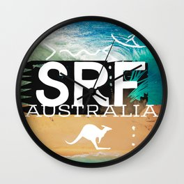 Surfing Surf Australia Wall Clock