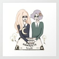 ouija Art Prints featuring Ouija by Bunny Miele