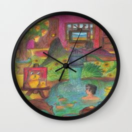 sad house Wall Clock