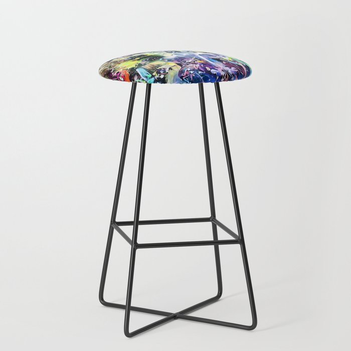 Crow's Paintbrush Bar Stool
