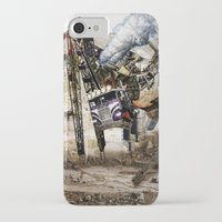 truck iPhone & iPod Cases featuring Monster Truck by Jonathan Sims