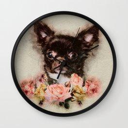 Chihuahua puppy sketch Wall Clock