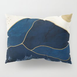 Mt Hood Sapphire Blue Wilderness Pillow Sham