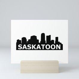 Saskatoon Skyline Mini Art Print