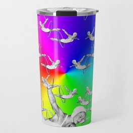Synchronised Rainbow Hoop Divers Travel Mug