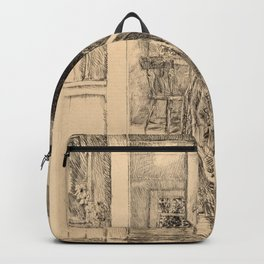 Childe Hassam - Girl in a Modern Gown Backpack