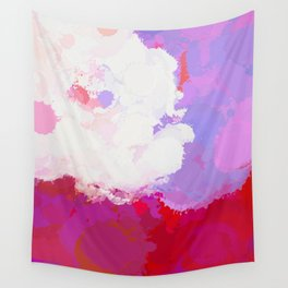 Purple watercolor abstract splatter Wall Tapestry