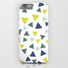 Minimal Triangles Art, Classic Blue Art, Colorful art iPhone Case