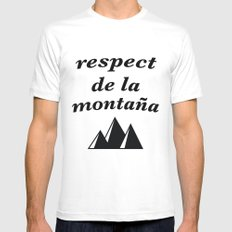 respect de la montana 2 White 2X-LARGE Mens Fitted Tee