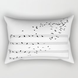 Natural Musical Notes Rectangular Pillow