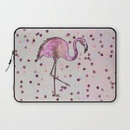 Glamorous Flamingo pink and rose gold sparkle Laptop Sleeve