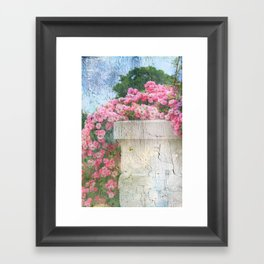 Cascade of Pink Roses Framed Art Print