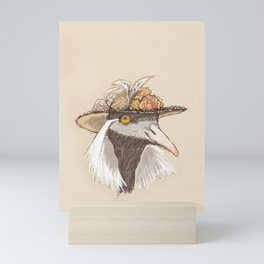 Bird in Hat-1 Mini Art Print