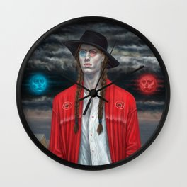 September (Moth Man) Wall Clock