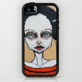 black orange stripes iPhone Case