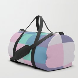 Abstract square pastel geometry Duffle Bag