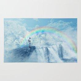 waterfall in the sky Rug