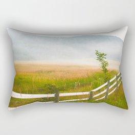 Fenced in Field Rectangular Pillow