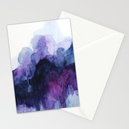 Purple abstract watercolor Stationery Cards