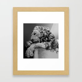 Study Of Chatsworth House Lion Framed Art Print