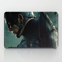 steve rogers iPad Cases featuring Steve Rogers 006 by TheTreasure