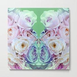 Modern mirror flowers Metal Print