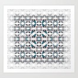 Graphic 3D movement  Art Print