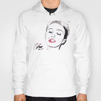 miley cyrus Hoodies featuring Miley Cyrus by ☿ cactei ☿