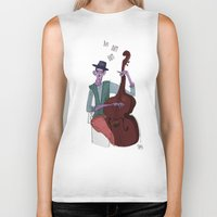 cello Biker Tanks featuring Smooth Cello by Erin Eng