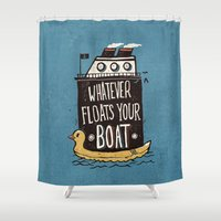 quotes Shower Curtains featuring Quotes by Ronan Lynam