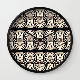 Vintage Grecian Geometric Pattern and Design Wall Clock
