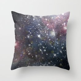 Splattered Stars Throw Pillow