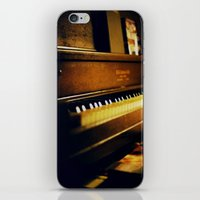 piano iPhone & iPod Skins featuring piano by Liz Morrison Smith