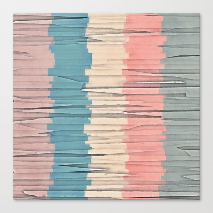Colorful Grunge Stripes Canvas Print