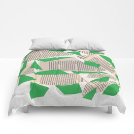 Collage green Comforters