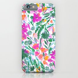 Upside Floral (Time Lapse) iPhone Case