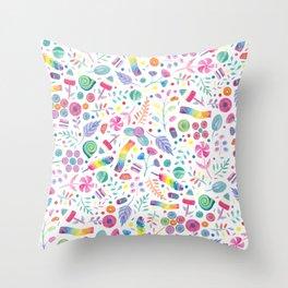 Candy Garden Throw Pillow