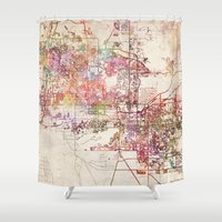 phoenix Shower Curtains featuring Phoenix  by MapMapMaps.Watercolors