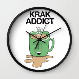 Krak Addict Wall Clock