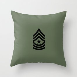 Sergeant Major (Green) Throw Pillow