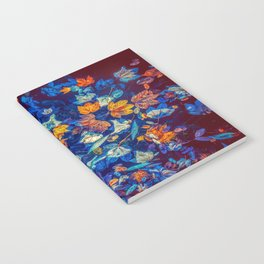 Blue Fall Leaves Autumn Nature Photography Art Notebook