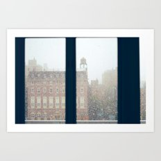 And On The Sixth Day, It Snowed Art Print