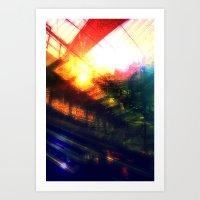Terminal at Sunset Art Print