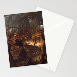 Adolph von Menzel - The Iron Rolling Mill (1875) Stationery Cards