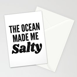 The Ocean Made Me Salty Stationery Cards
